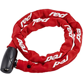 Red Cycling Products High Secure Chain Pyörälukko 6 mm x 1000mm , punainen